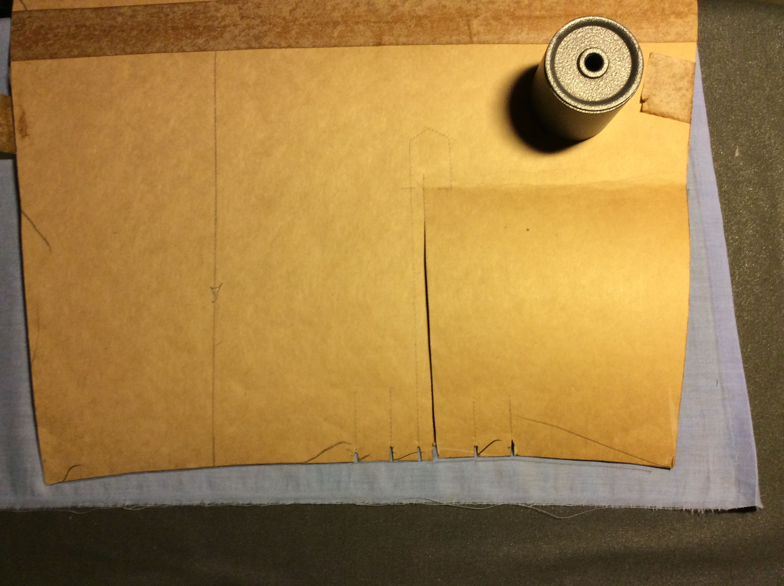 Sewing a simple sleeve placket.